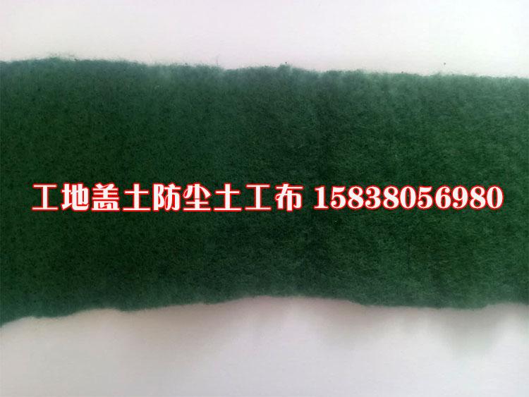 墨绿色土工布 工地防尘土工布 工地盖土土工布